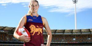 Tayla Harris, AFLW All-Australian Player Visits Senior Campus